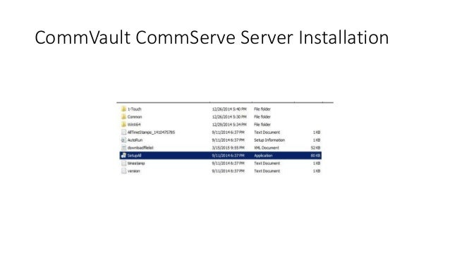 Commvault simpana 10 installation guide