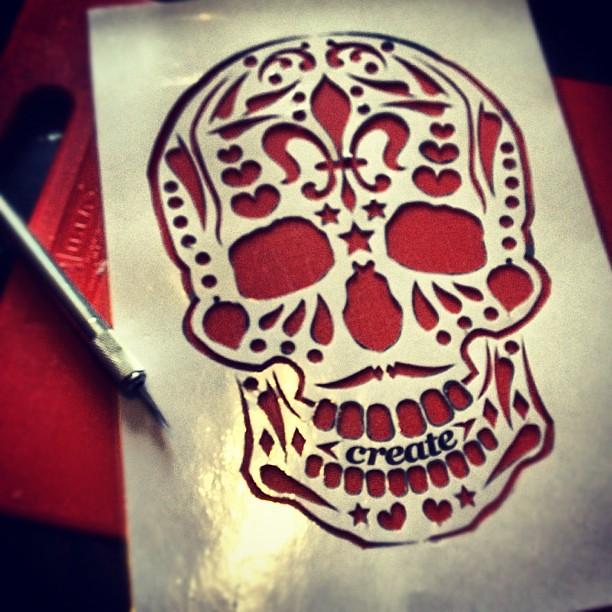 Sugar skull pumpkin stencil pdf