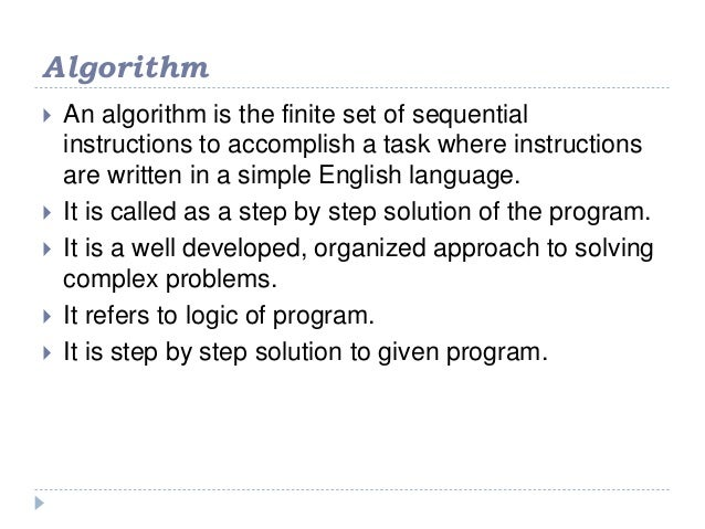 finite number of sequential instructions are called