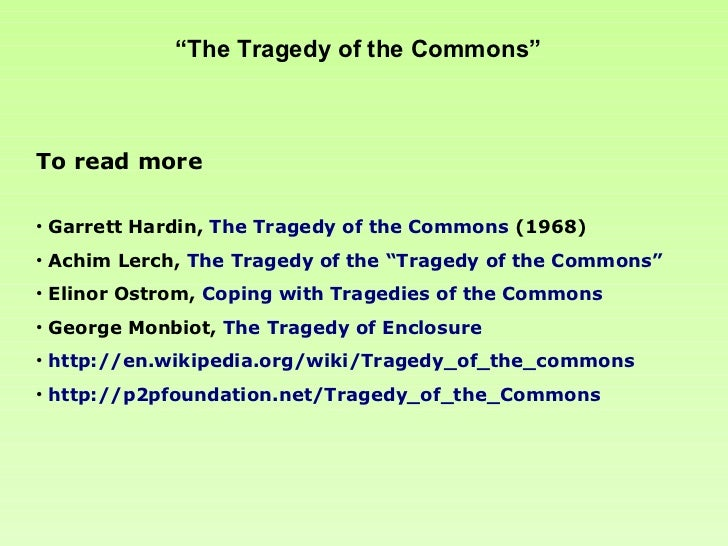 Tragedy of the commons by garrett hardin pdf