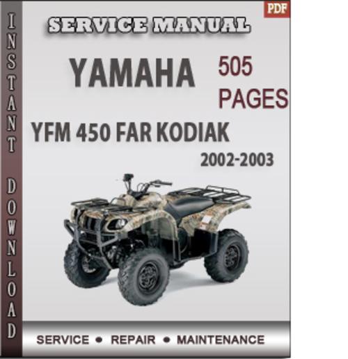 2004 yamaha kodiak 400 repair manual free download