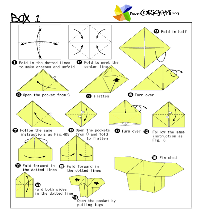 Origami star box instructions pdf
