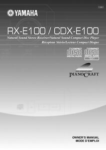 yamaha pianocraft rx e100 owner manual
