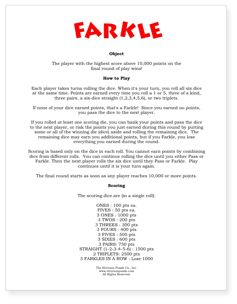 farkle instructions in spanish