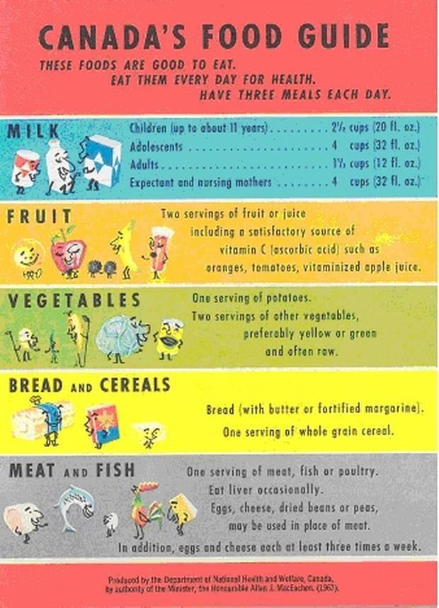 Canadian food guide eating plan