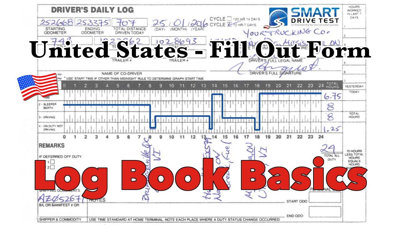 drivers daily log book instructions