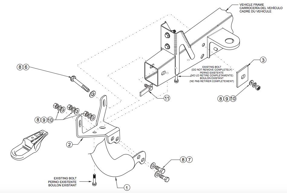 Bull bar installation instructions