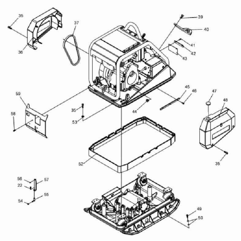 wacker neuson dpu 6555 parts manual