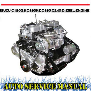 isuzu 4be1 engine workshop manual
