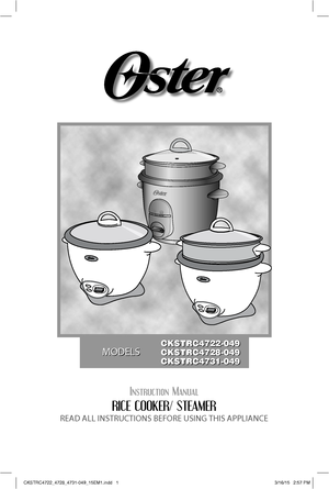 Tower slow cooker instruction book