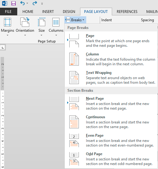 Microsoft word how to remove a section break