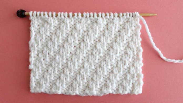knitting instructions for meandering rib