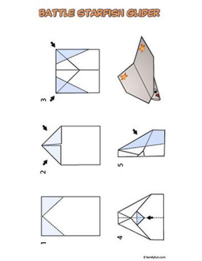 paper plane glider instructions