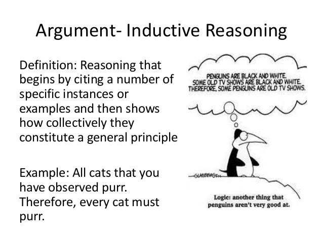Example of inductive reasoning in literature