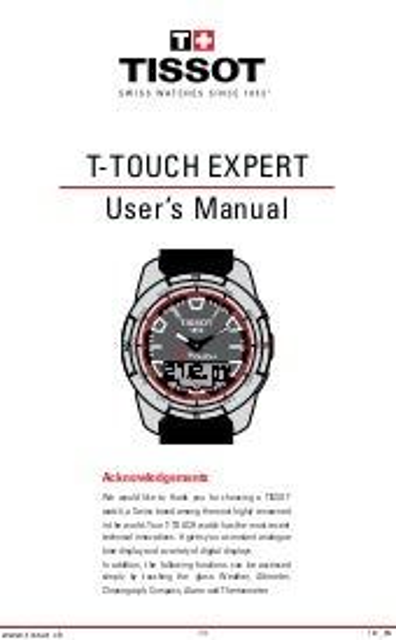 Tissot t touch titanium manual