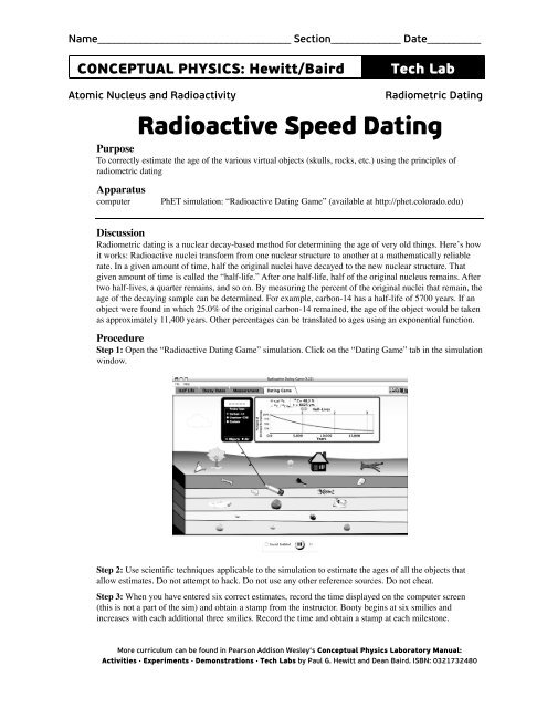 Edu colorado phet nuclear physics radioactive dating game application