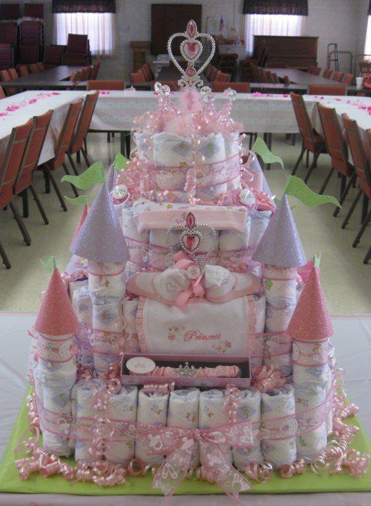 princess diaper cake instructions