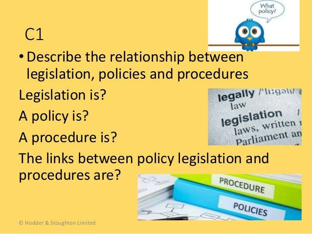 Difference between policy and procedure and guidelines