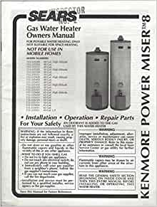 kenmore power miser 12 gas water heater manual