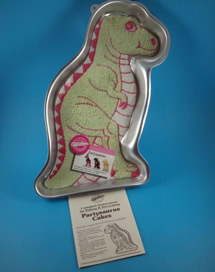 wilton dinosaur cake pan instructions