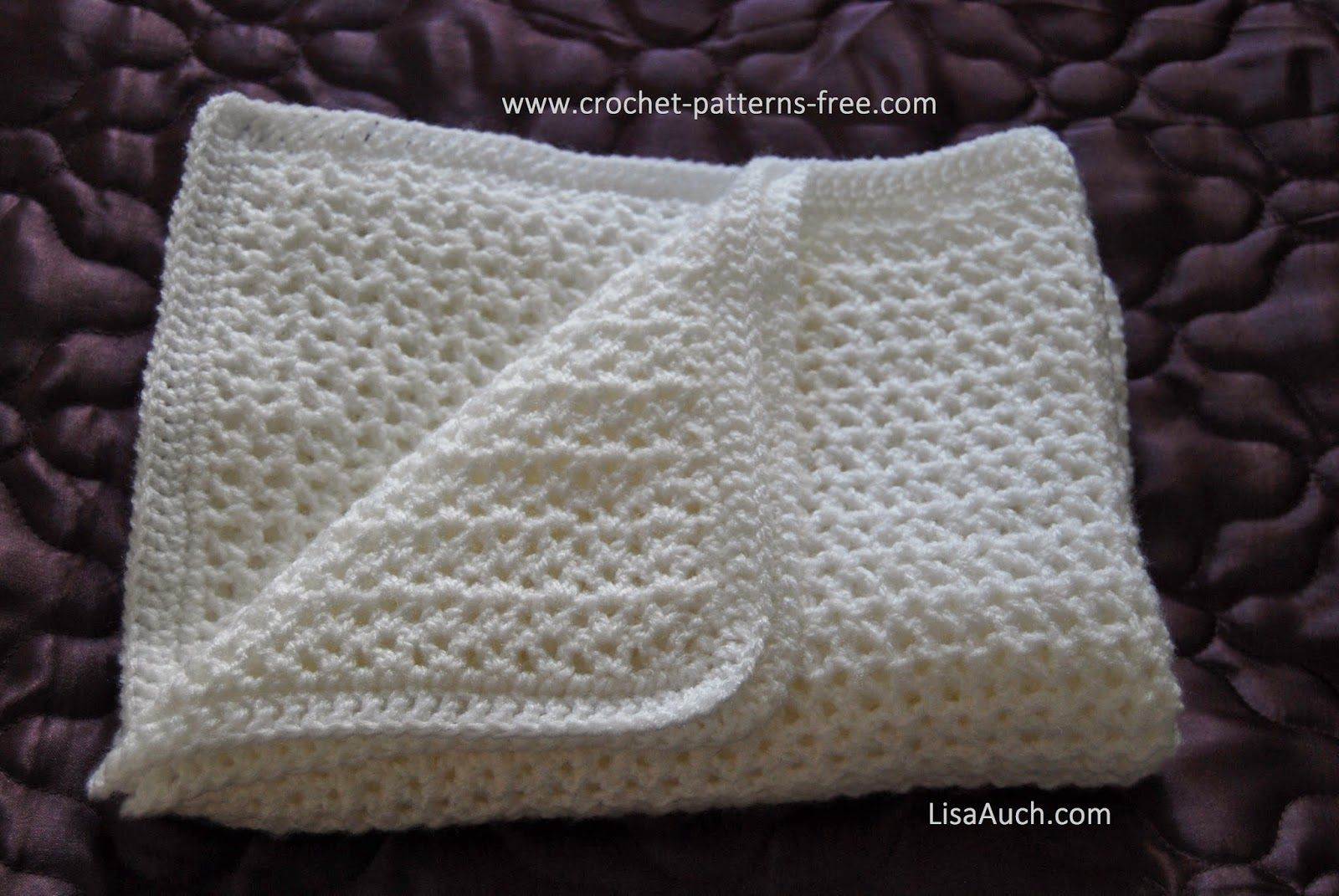 free crochet instructions for baby blankets