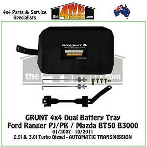 grunt dual battery tray fitting instructions