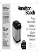 Hamilton beach breadmaker 29881 manual