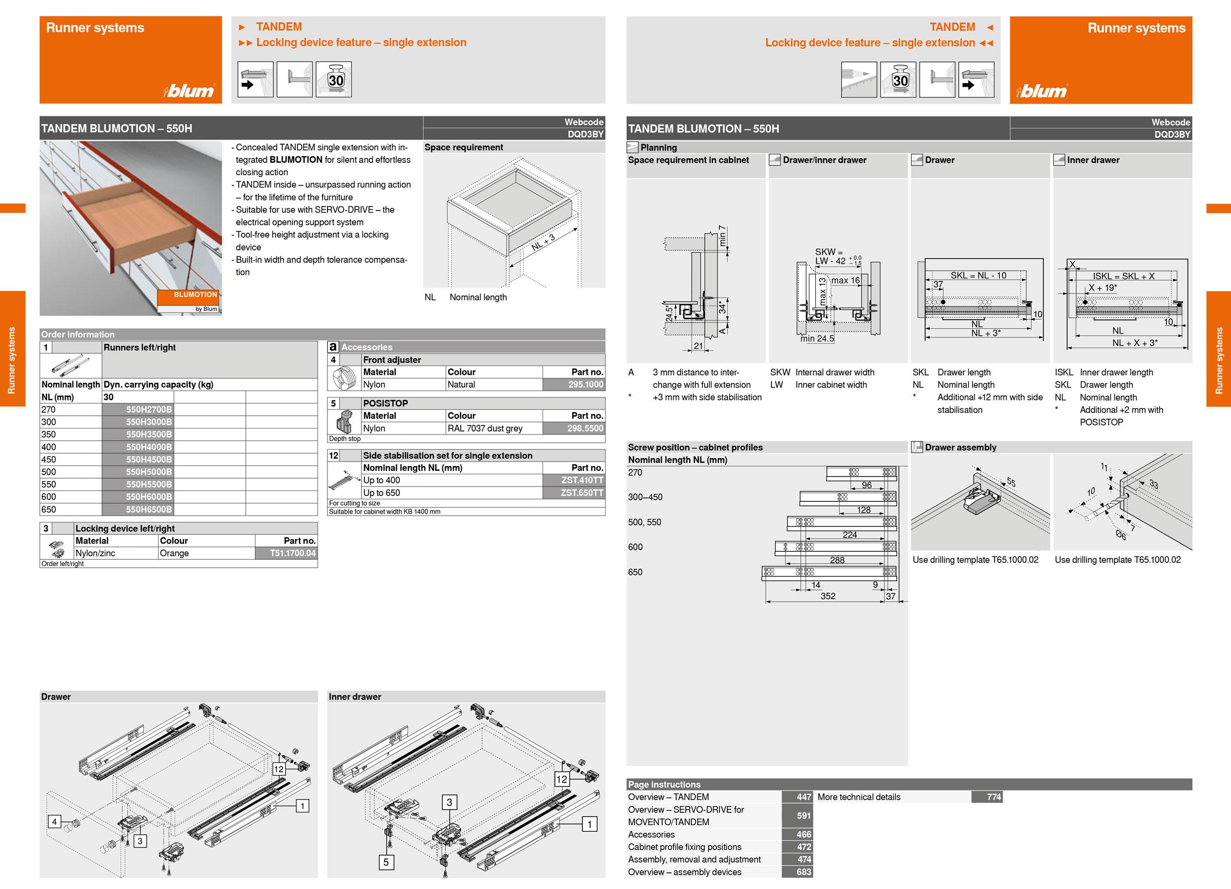 hettich drawer fitting instructions