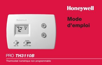 Honeywell deluxe digital non programmable thermostat manual
