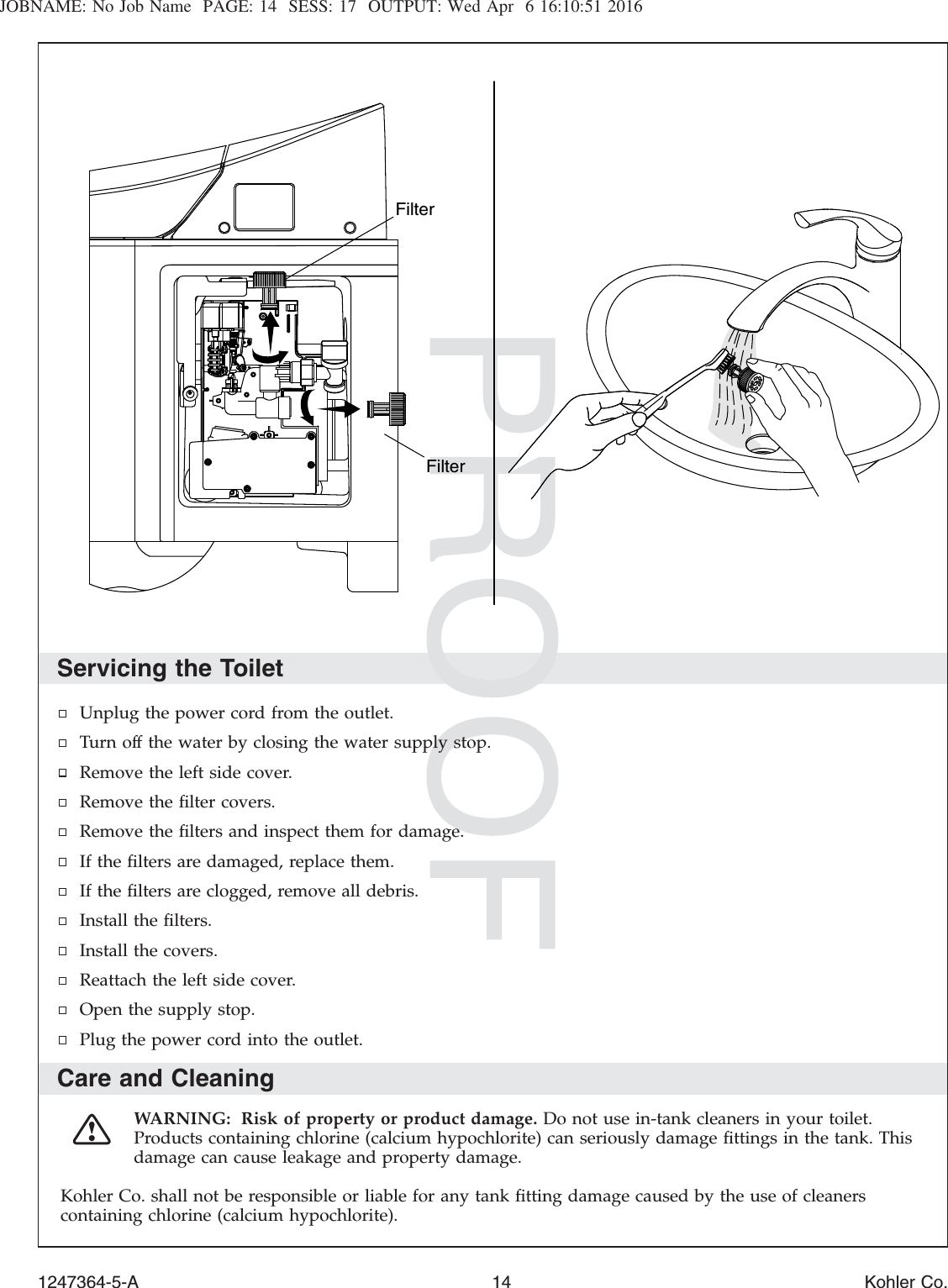 kohler saile toilet installation instructions