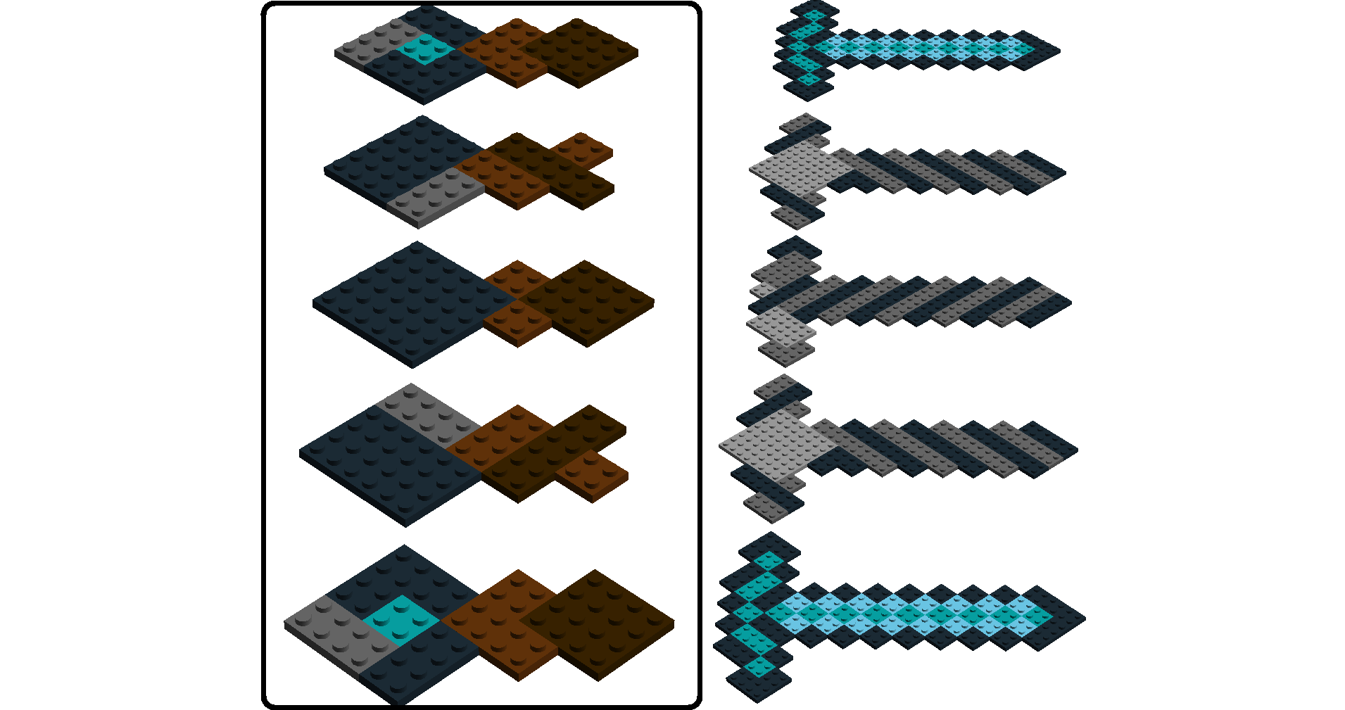 minecraft sword lego instructions