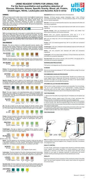 siemens urine test strips instructions