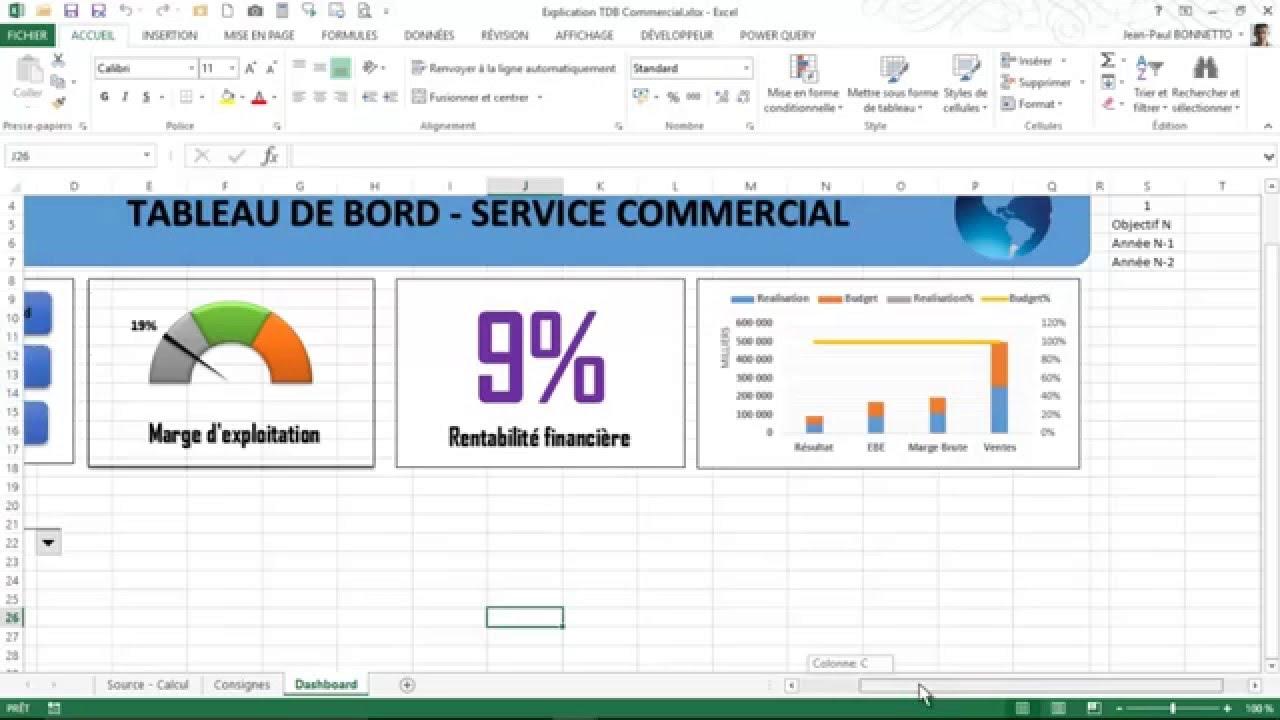 Tableau de bord commercial excel pdf