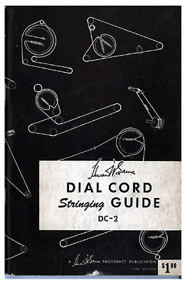 Vintage tube radio dial cord stringing guide